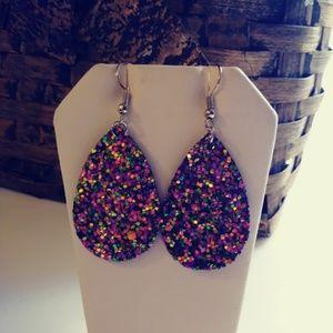 Jewelry - Glitter Teardrop Earrings